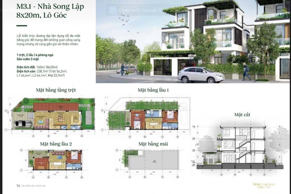 50/142 căn biệt thự Song lập 8X20m Lã Xuân Oai quận 9/ Nhận Booking GD1