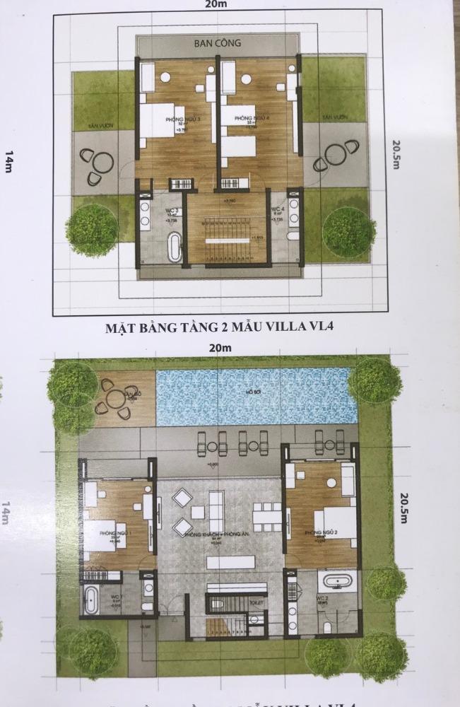 Bán căn Villa 4 phòng ngủ , Duy nhất Rosa Alba Resort . Số đẹp VL 79 ,410m2