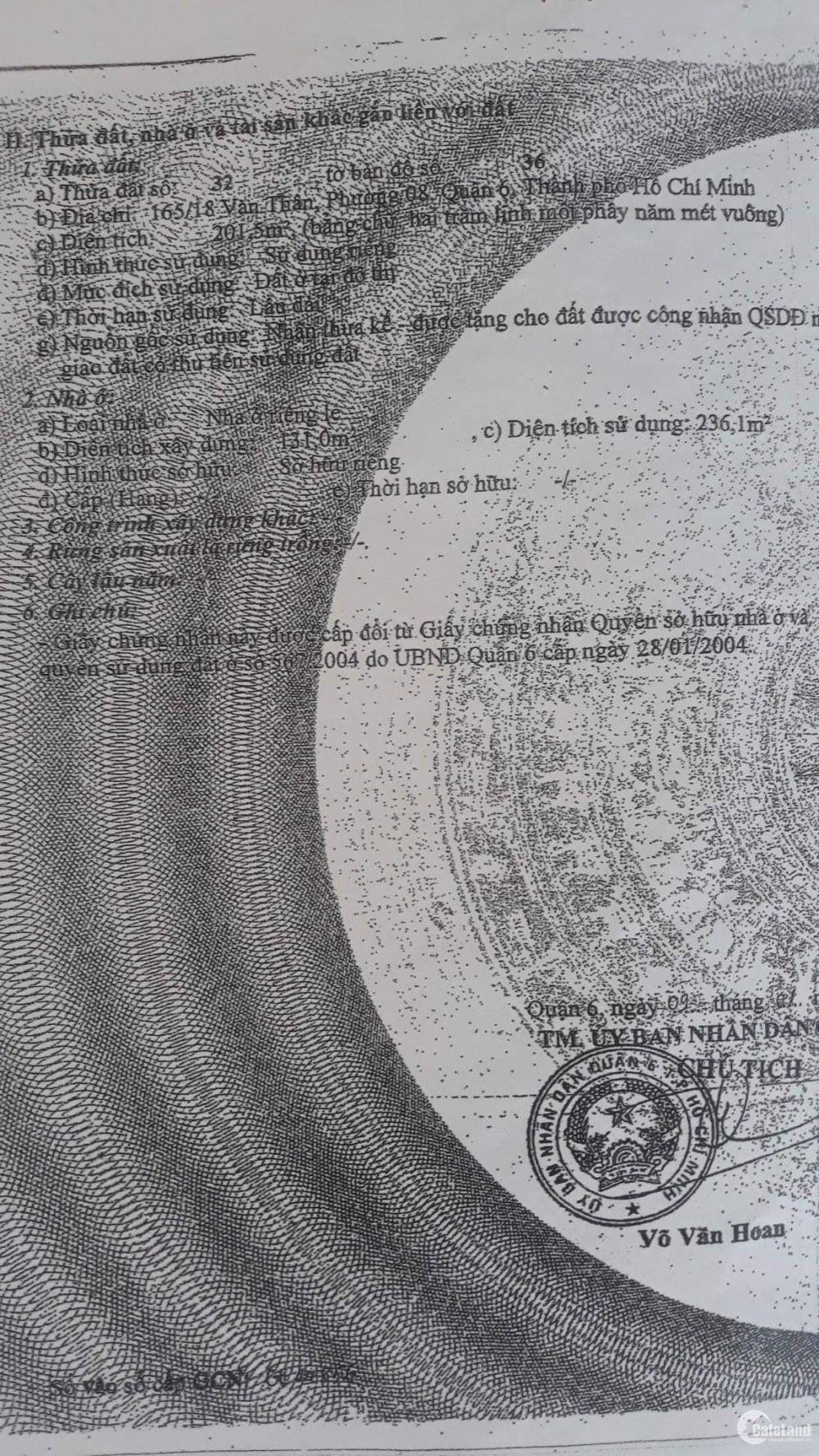 NHÀ HOT NHẤT KHU VỰC QUẬN 6 GIÁ SIÊU TỐT CHƯA TỚI 45TR/M