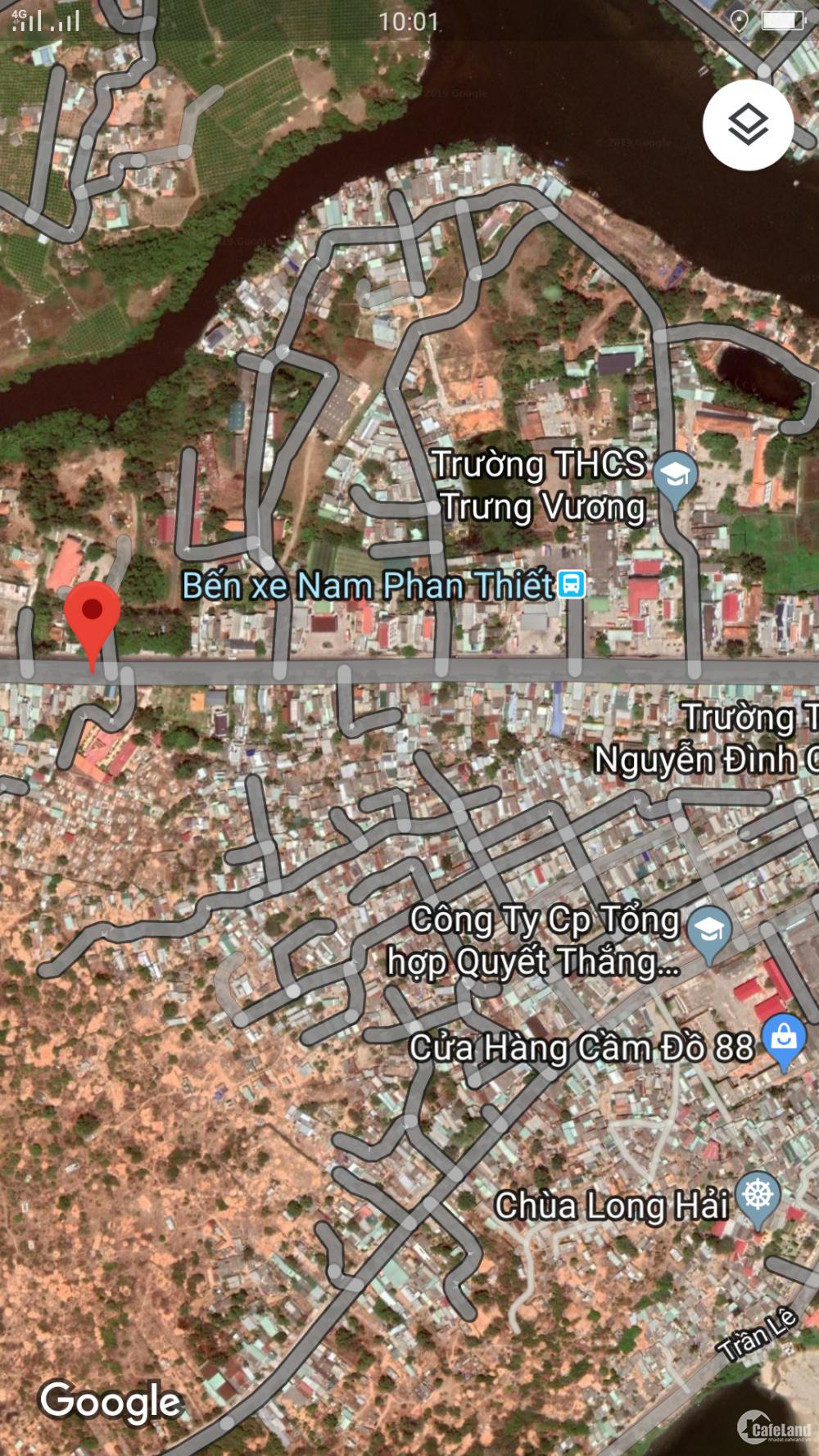 Bán gấp  nhà 150m mặt tiền Trần Quý cáp gần bến xe Nam Phan Thiết nhà hướng Đông