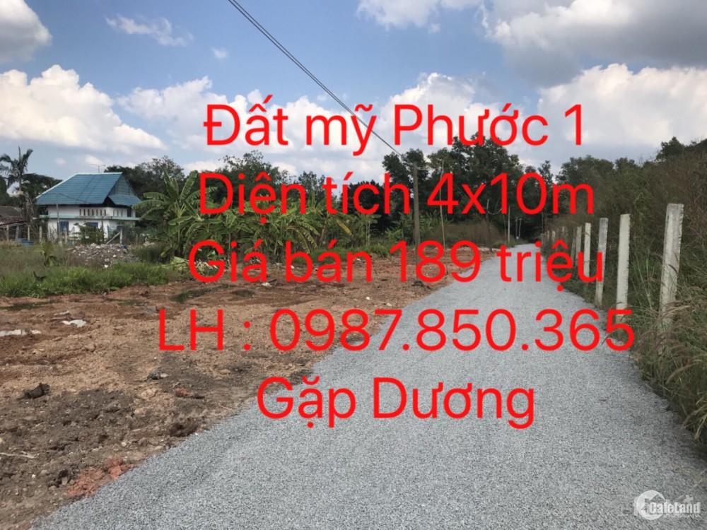 Đất nền KCN Mỹ Phước  1 đường TC1 Bến Cát Bình Dương dt 40m2 giá bán nhanh 189tr