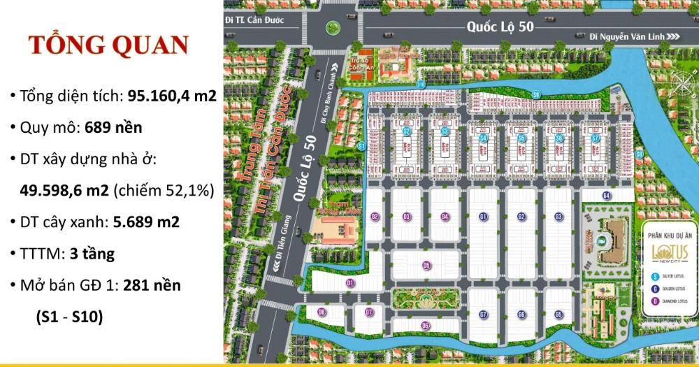 Đất nền Quốc Lộ 50 Cần Đước Long an , Lotus New City