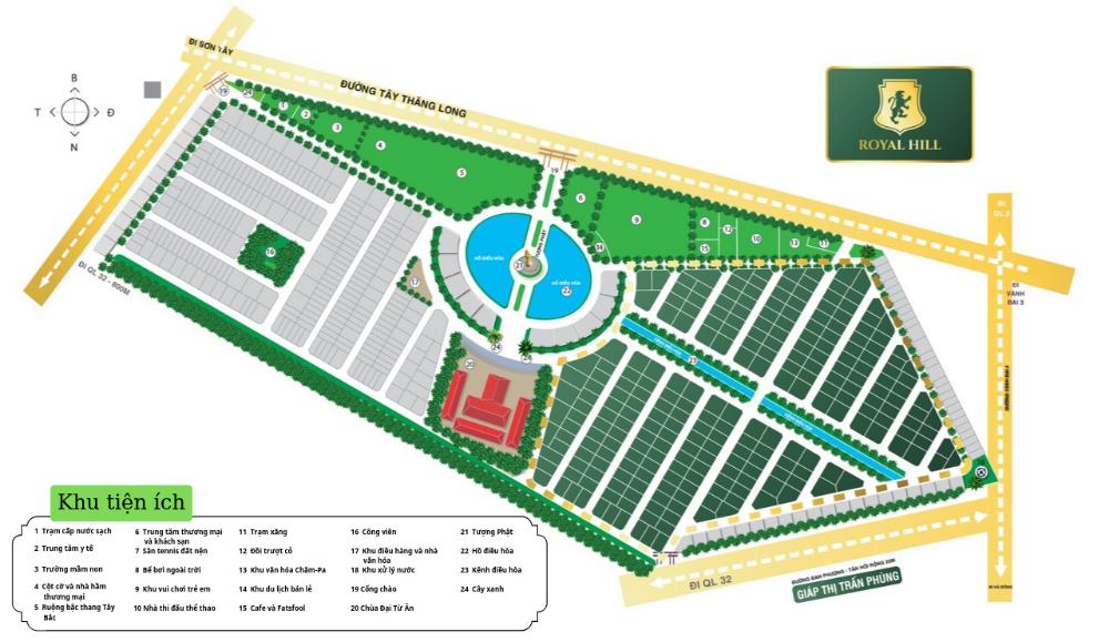 Độc Quyền tiểu khu ROYAL HILL với các lô lớn 400 - 800m2, Cơ hội đầu tư nhân đôi