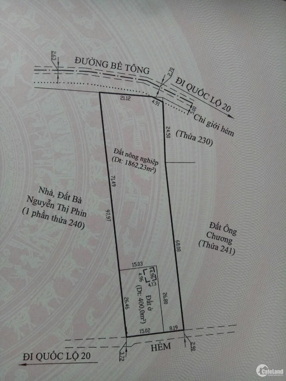 Bán đất + nhà cấp 4 chính chủ vị trí đẹp tại Xã Xuân Trường, Cầu Đất, Đà Lạt