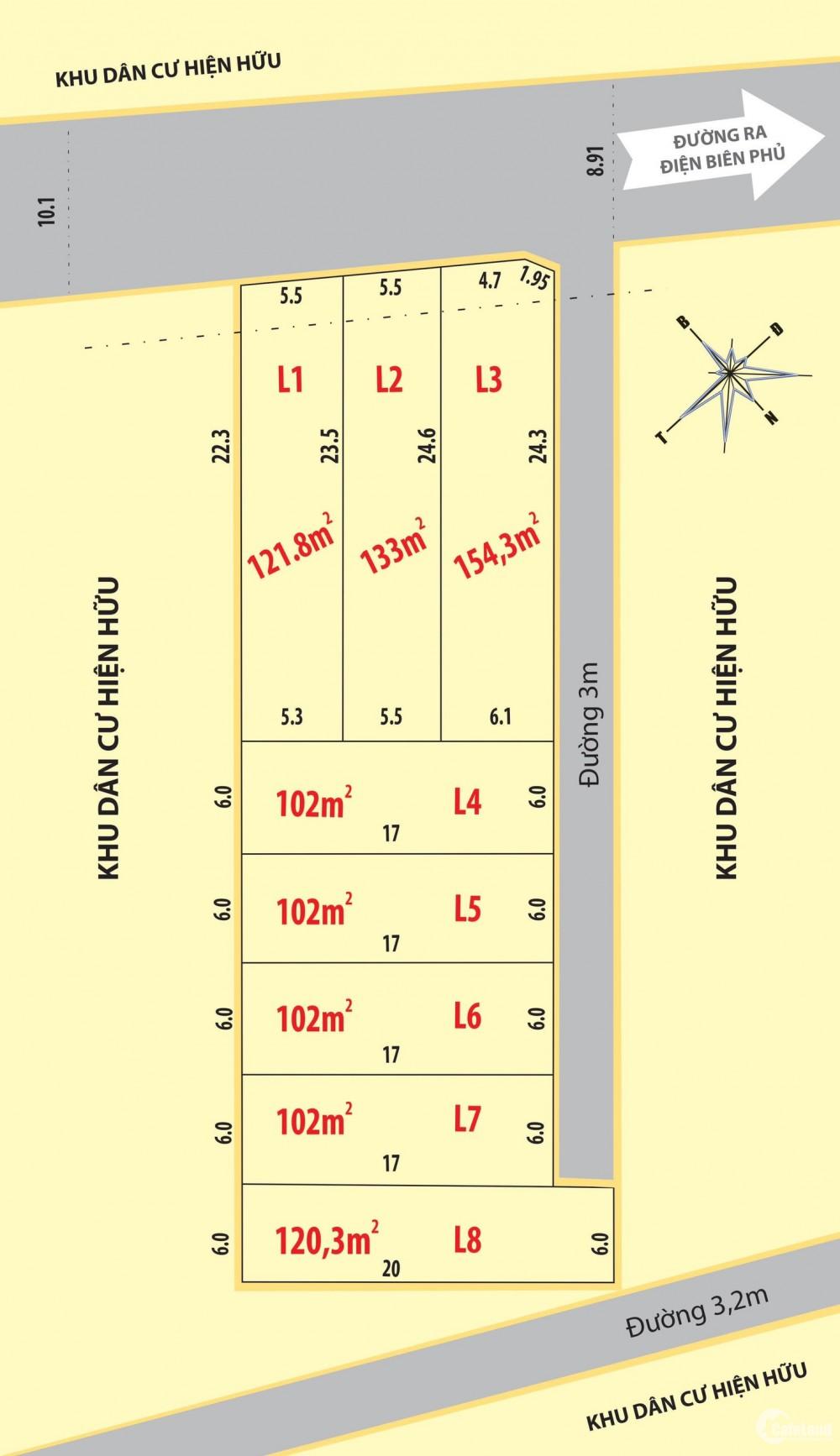 Sở hữu đất mặt tiền cảnh quan & khí hậu mát mẻ ngay trung tâm TP Huế chỉ với 7xx
