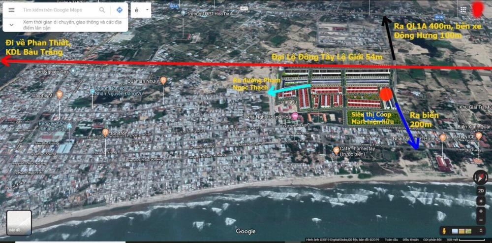 Đất nền TRUNG TÂM Phan Rí Cửa, CHỈ 13TR/M2. Sát bên Coopmart và trường học