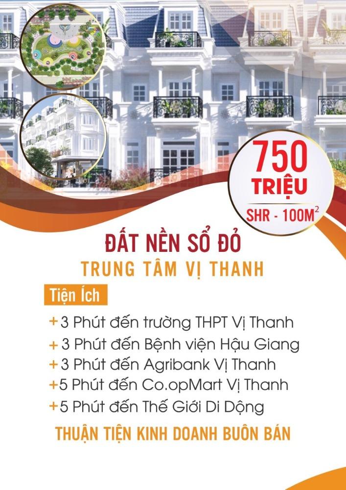 Bán đất MT TTTP Vị Thanh, DT 110m2, giá ưu đãi
