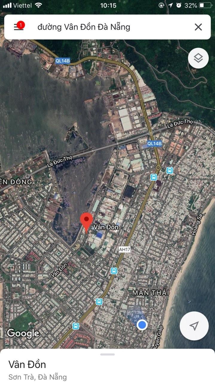 Cho thuê 1000 m2 đất làm kho xưởng đường Vân Đồn,q.Sơn Trà,Đà Nẵng gần cảng giá