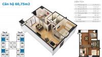Bán căn hộ chung cư tứ hiệp plaza 60m2 2pn 2wc