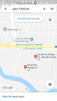 Cần bán căn B12 mặt tiền Quốc lộ 1A đi vào/Khu dân cư Sài Gòn - Thới An giá 5,6t