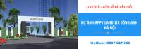 Bảng giá mới nhất dự án liền kề shophouse Happy Land 1/5 Đông Anh Hà Nội