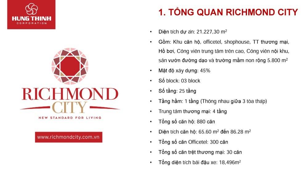 Bán gấp căn hộ Richmond City Bình Thạnh 2PN, giá cực tốt