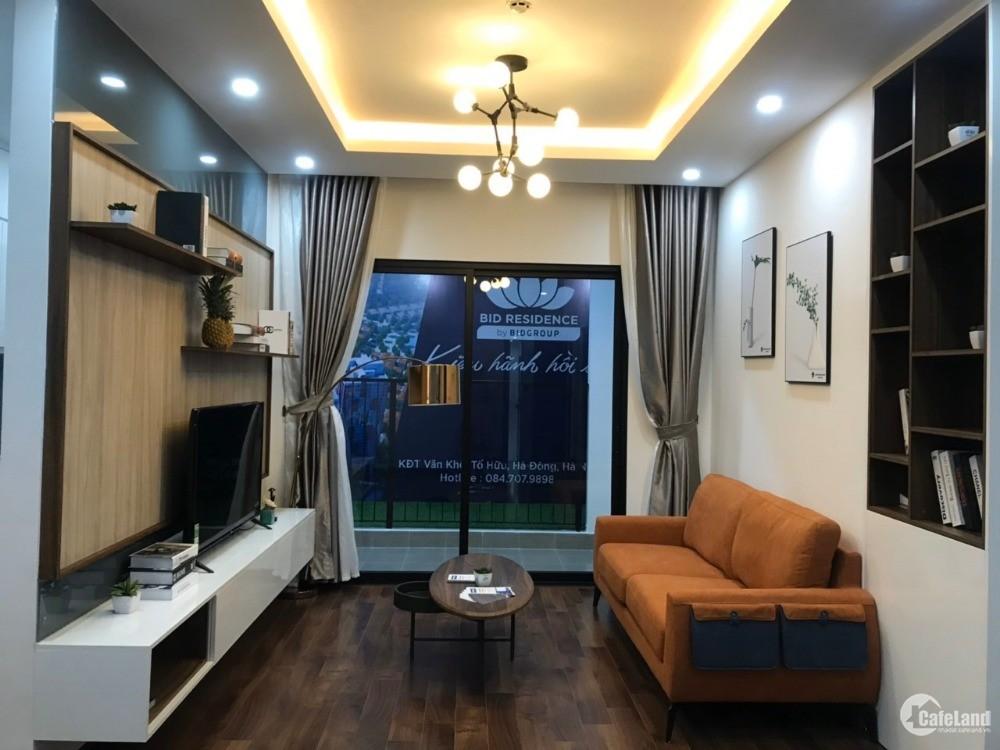 Căn hộ 2 ngủ cao cấp tại dự án Bid Residence văn Khê Hà đông