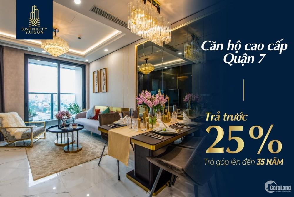 Bán căn hộ cao cấp 5 sao Sunshine City Sài Gòn Quận 7 trả trước 25% nhận nhà