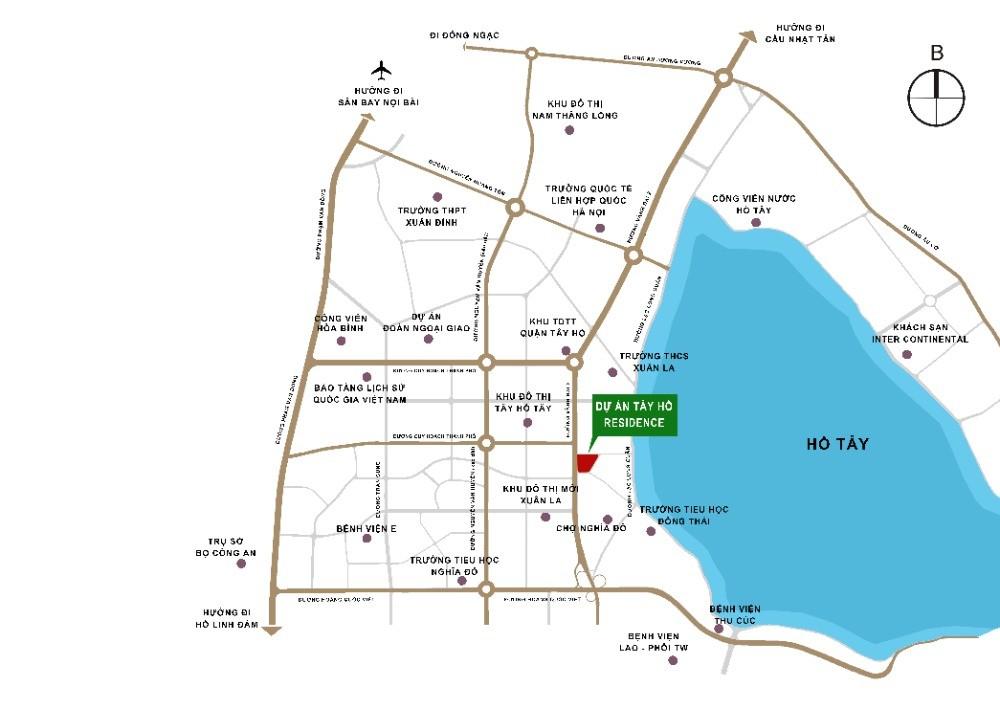 Sở hữu CH Tây Hồ Residence chỉ 3,6 tỷ 3PN, full nội thất nhập khẩu, view  Hồ Tây