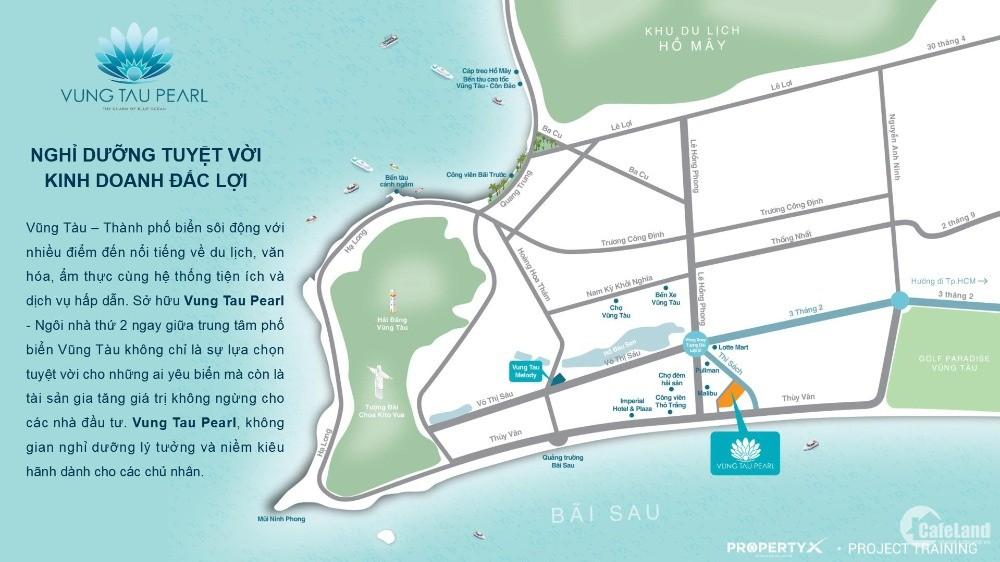 Căn hộ du lịch biển Vũng Tàu ,chỉ từ 35tr/m2 ,cách bãi biển 150m
