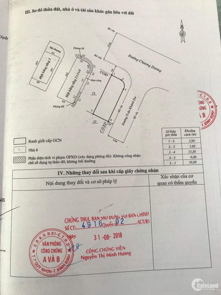 Bán khách sạn 97 Chương Dương, P. Nguyễn Văn Cừ, TP. Quy Nhơn, Bình Định