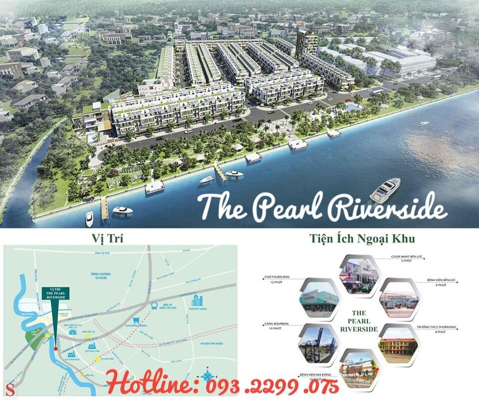 250 căn Nhà phố, Biệt thự ven sông The Pearl Riverside- 2,4ty/căn bao gồm VAT-LH