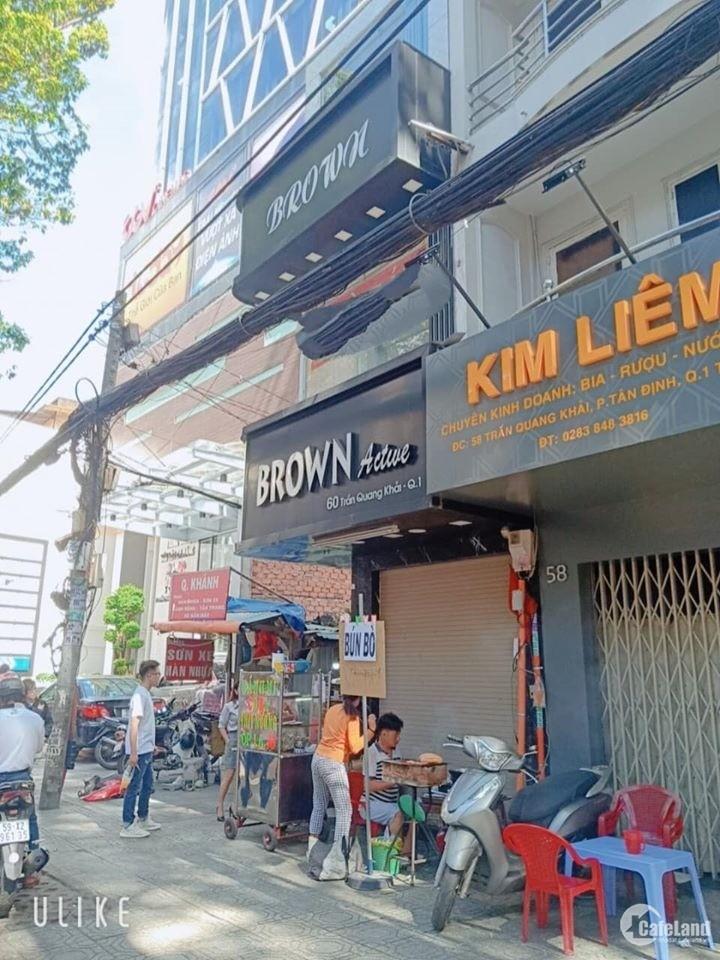 Bán nhà 2 MT 60 Trần Quang Khải phường tân định Q1 Hẻm hông 3m