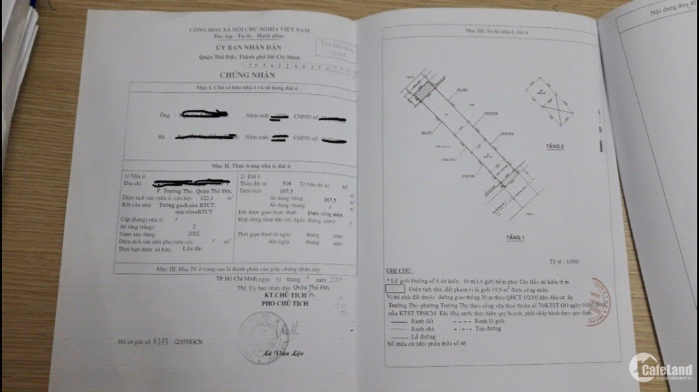 Bán gấp nhà 2 mặt tiền chính chủ tại P. Trường Thọ, Q. Thủ Đức, TP.HCM
