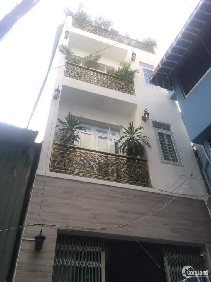 Bán Nhà HXH, Nơ Trang Long, Phú Nhuận,45m2, 4 lầu.