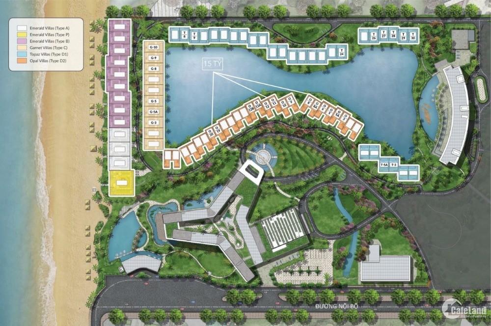 Biệt thự  Movenpick 100% view biển, giá đầu tư 4 tỷ, nhận lợi nhận 1,5 tỷ/ năm.