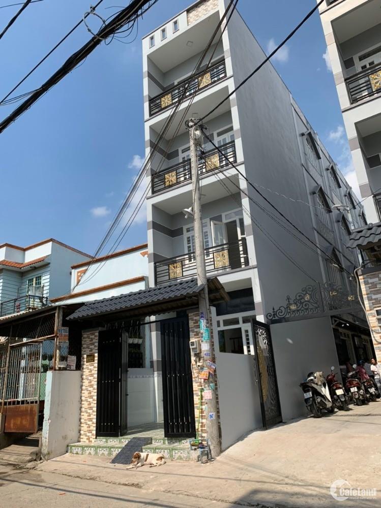 Bán nhà Sổ riêng, MT Tây Lân - Bình Trị Đông A, Bình Tân. 4x10m 3lầu. 2tỷ790tr.