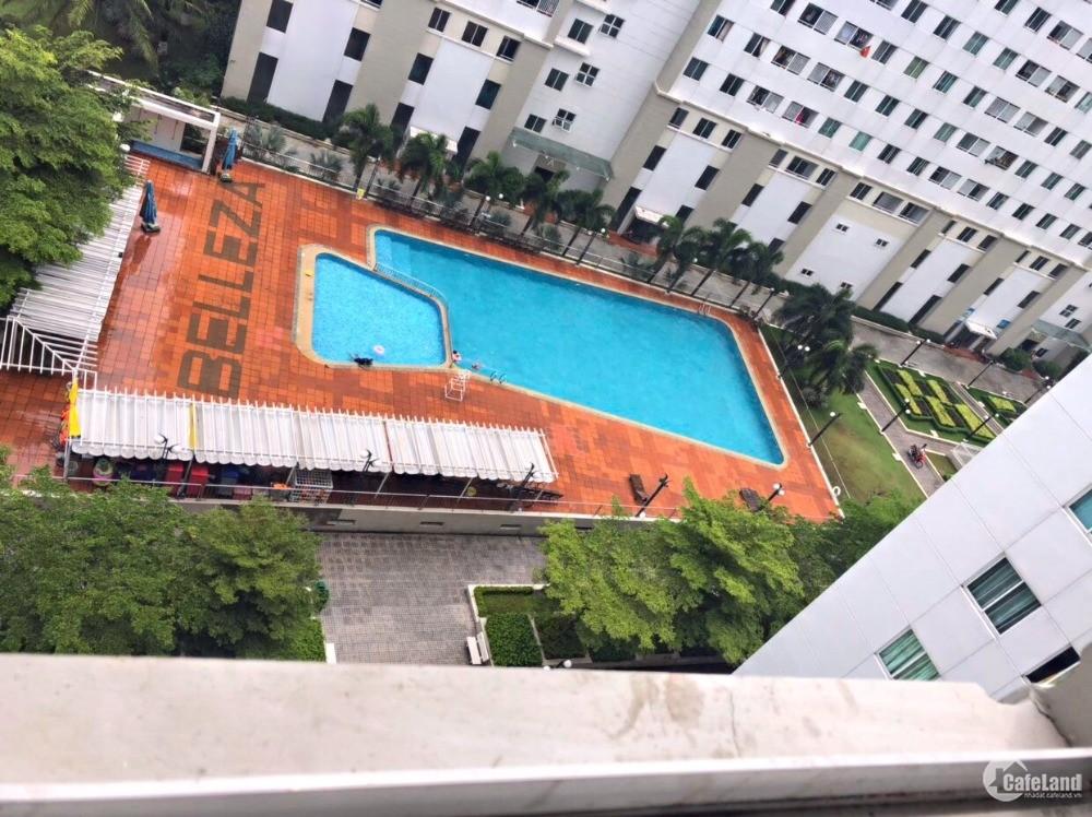 Belleza 92m2: 2PN + 2WC, view hồ bơi Phú Mỹ Hưng, nội thất cơ bản 7.5triệu