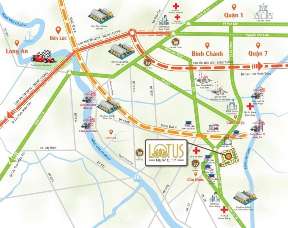Chính thức mở bán dự án Lotus New City mặt tiền đường Quốc Lộ 50, SHR