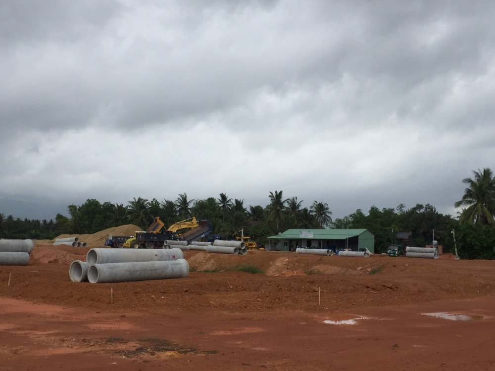 Bán lô đất mặt tiền Quốc Lộ 1A,TT Tam Quan,Huyện Hoài Nhơn 126m²