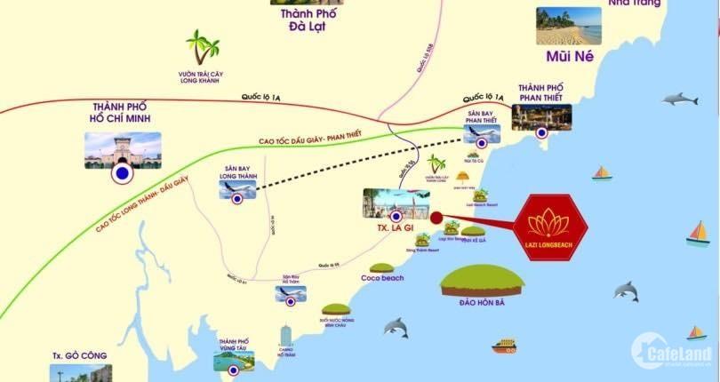 Siêu Dự Án Đất Nền Nằm Cạnh Sân Bay Quốc Tế Phan Thiết - Giá Chỉ 1.5Tr/m2