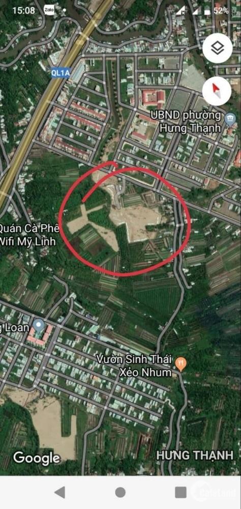 Bán đất TDC Phường Hưng Thạnh Quận Cái Răng, Cần Thơ kề UBND