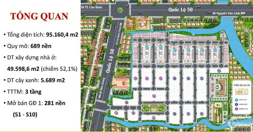 dự án ngay mặt tiền ql50 giá chỉ từ 700 triệu