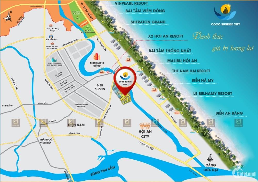 KĐT mới COCO SUNRISE CITY - View sông - Gần Biển - Gía 17tr/m2. Hạ Tầng 80%