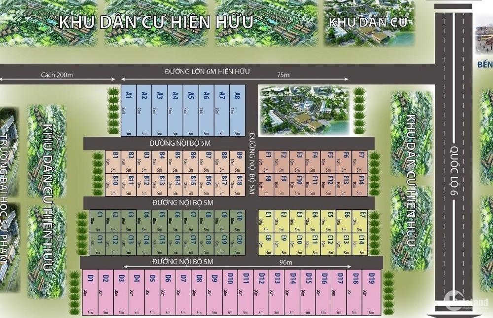 Giá chỉ từ 8 triệu/m2. Liên hệ ngay với phòng bán hàng dự án #Đất_Nền_Hà_Đông
