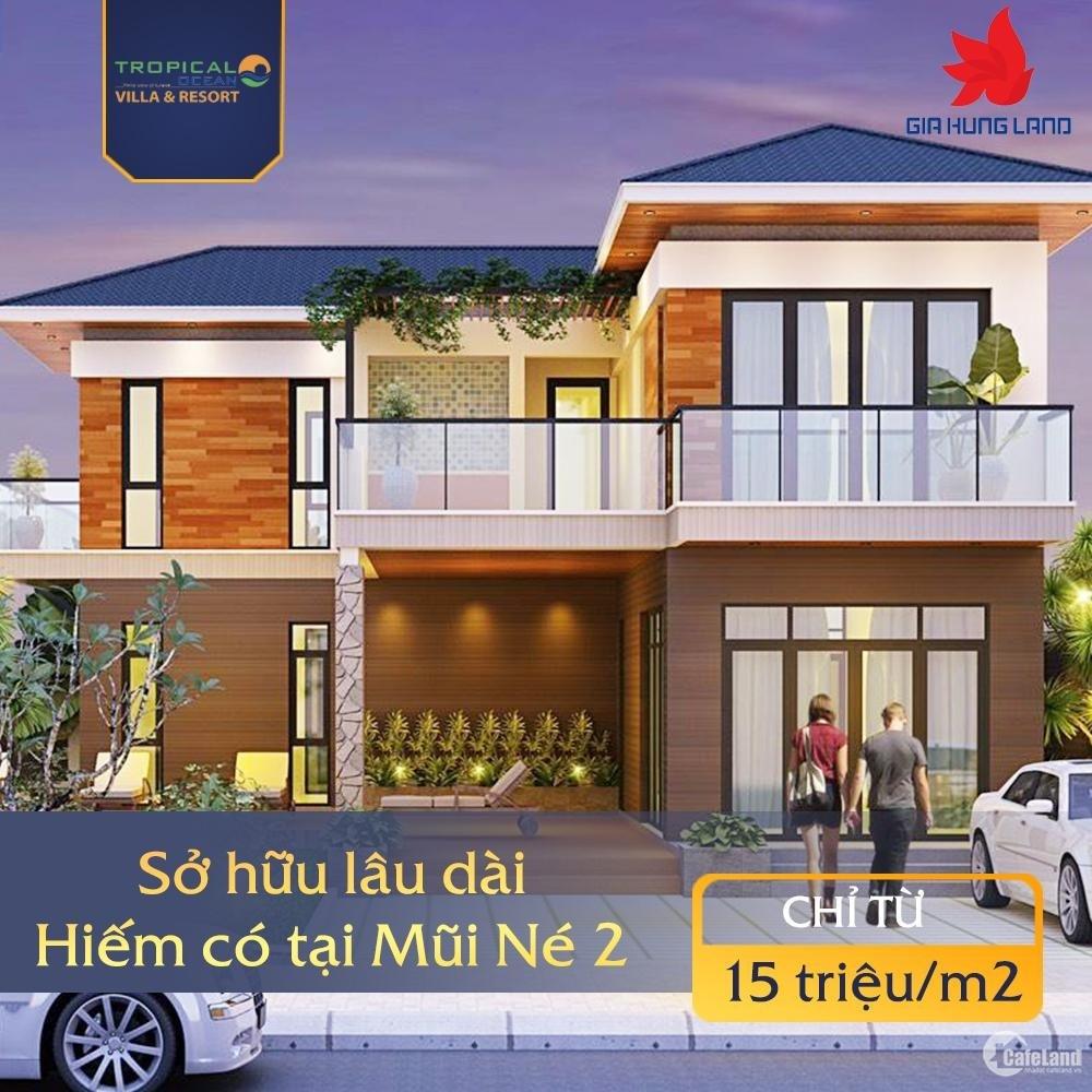 Cơ hội đầu tư vàng Tropical Ocean Villa & Resort sở hữu lâu dài chỉ từ 15tr/m2