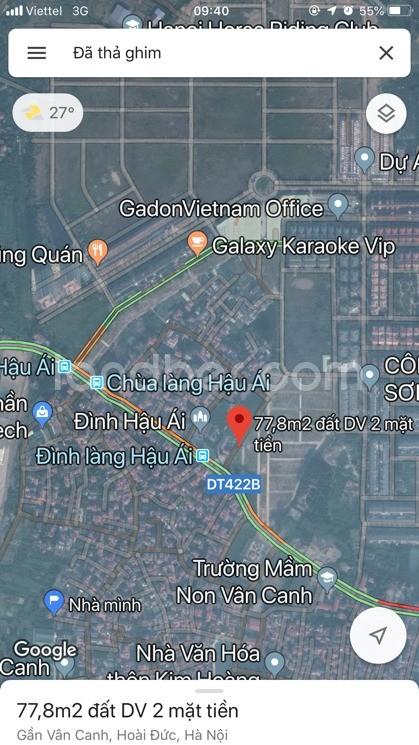 Chính chủ cần tiền bán đất dịch vụ 77.8m2 MT 5.3m thuộc khu 6.9ha Vân Canh, HĐ
