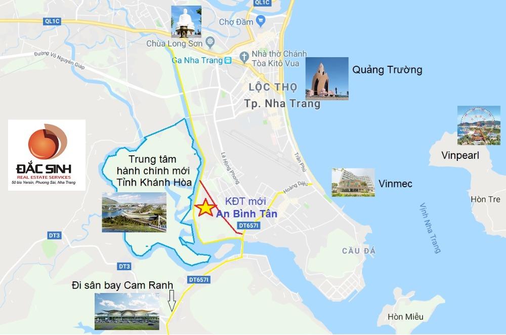 Lô đất đẹp đường 40m Khu đô thị An Bình Tân Nha Trang, đối diện Hoàng Long