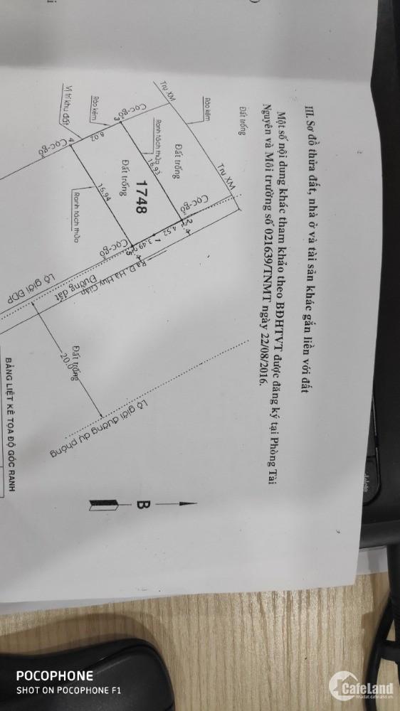 Đất chính chủ mặt tiền 8m,đường TL 19, p.thạnh lộc, Q12,kẹt bán gấp