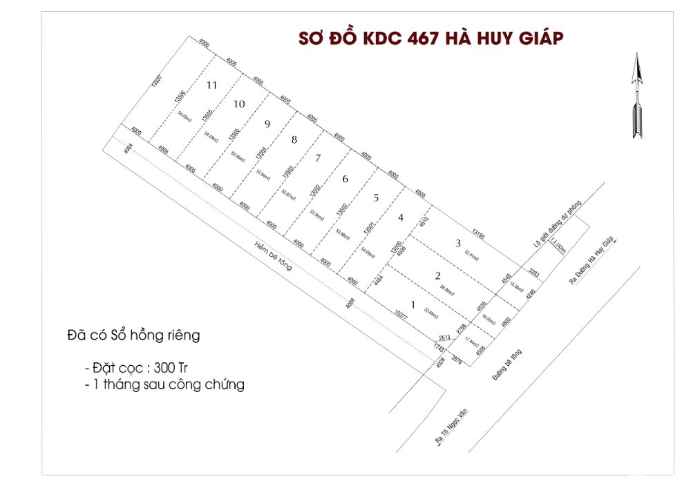 Đất nền Thạnh Xuân KDC 467 Hà Huy Giáp - Ngã Tư Ga Quận 12