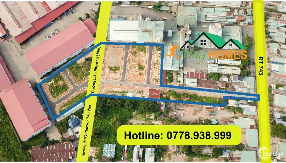 Đất trung tâm Thuận An mặt tiền ĐT743