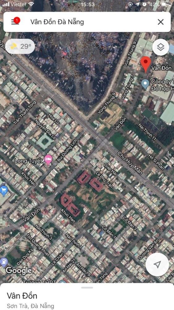 Cho thuê 300 m2 đất MT đường Vân Đồn gần Chu Huy Mân,Đà Nẵng 20 tr/ tháng.LH nga