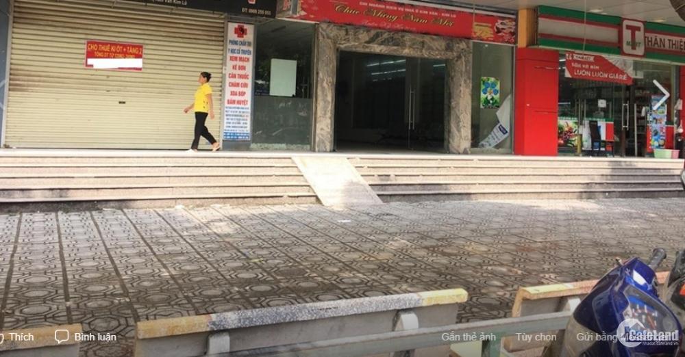 Cho thuê Ki ốt tầng 1 Kim Văn Kim Lũ diệntích120mx260m, mặt tiền 5m kinh doanh,