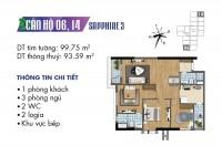 Bán căn hộ chung cư cao cấp 3 PN tại Goldmark City 136 Hồ Tùng Mậu