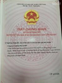 Cần bán gấp đất thành phố Đồng Xoài, SHR