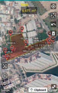6.000m2 đất 2 mặt tiền đối diện chung cư TTC, P. Tân Thuận Đông, Q7