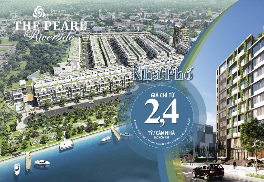 Bán nhà mặt sông Vàm Cỏ Đông chỉ 2,4 tỷ/căn. LH: 0932.299.075