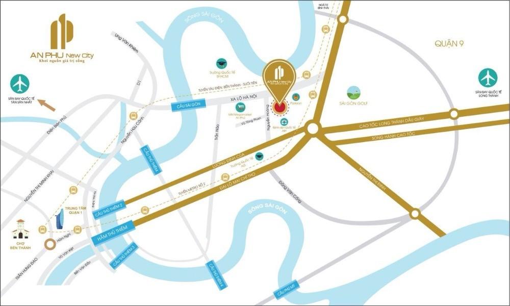 Nhà phố An Phú 2 mặt tiền đường Nguyễn Hoàng và Vũ Tông Phan
