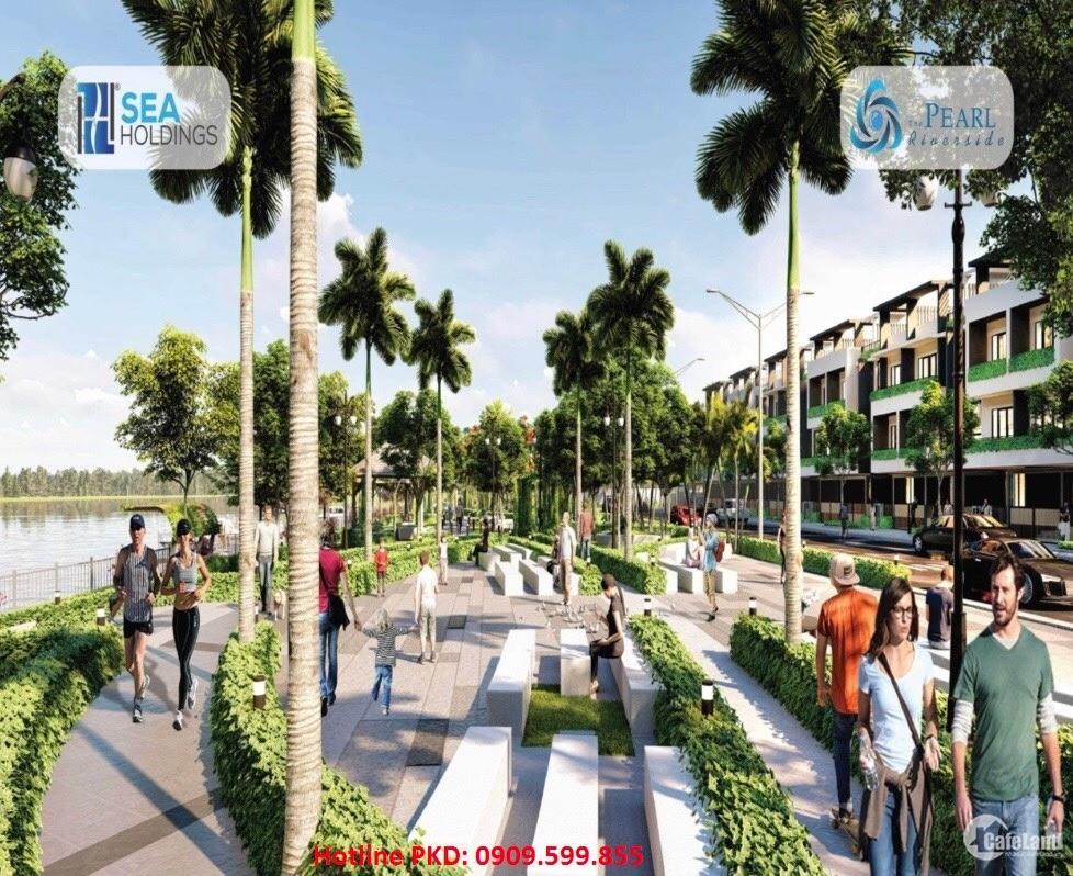 Bán nhà phố vườn Compound 1 trệt 2 lầu chỉ 2.4 tỷ/căn tại Bến Lức LH: 0909599855