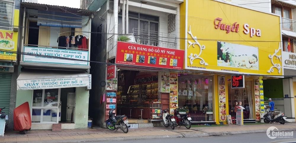 Bán nhà 2 tầng mặt tiền Nguyễn Thị Minh Khai, p. Lộc Thọ, tp. Nha Trang.